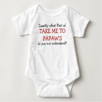 Take Me To Papaw's Baby Infant Bodysuit