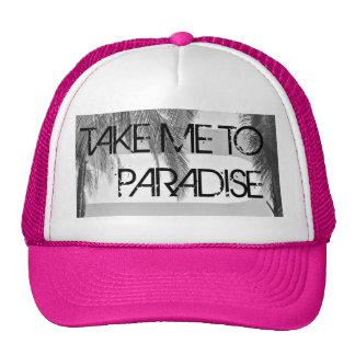 Take Me To Paradise Pink Women's Trucker Hat