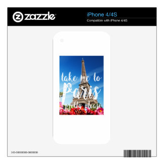 take me to Paris Skins For The iPhone 4S