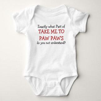 Take Me To Paw Paw's Baby Infant Bodysuit