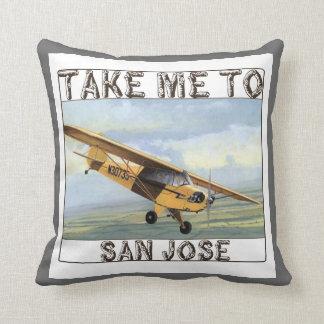Take Me To San Jose Throw Pillow