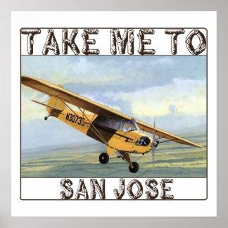 Take Me To San Jose Throw Pillow Poster