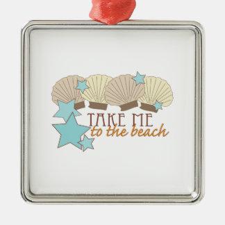 Take Me To The Beach Ornaments