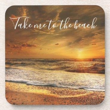 Take Me to the Beach Photo Coaster