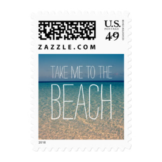 Take Me to the Beach Sea Water Blue Sky Gold Sand Stamps