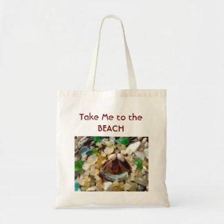 Take Me to the BEACH totes  Agates Shells Seaglass