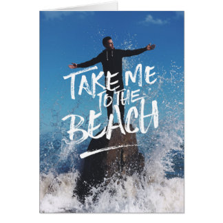 Take Me to the Beach Typography Photo Template