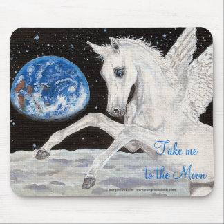 Take me to the Moon Pegasus horse fantasy mousepad