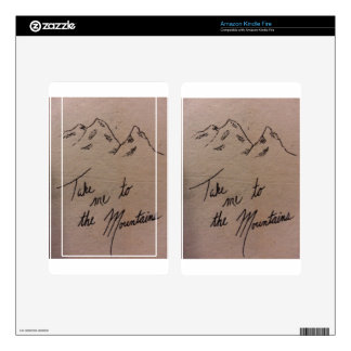 Take Me to the Mountains Kindle Fire Decal