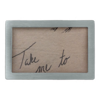 Take Me to the Mountains Rectangular Belt Buckle