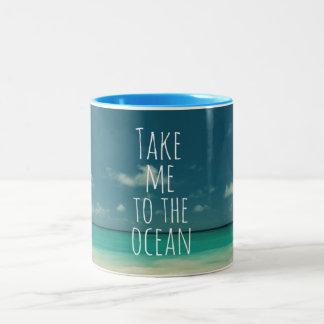 Take Me to the Ocean Two-Tone Coffee Mug