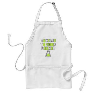 Take Me to Your Beaker Adult Apron