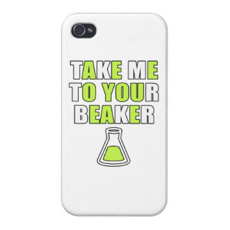 Take Me to Your Beaker iPhone 4 Covers