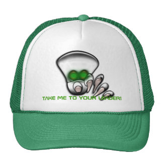 TAKE ME TO YOUR LEADER EXTRA TERRESTRIAL ALIEN HAT