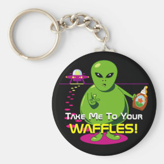 Take Me To Your Waffles! Keychain