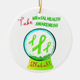 """Take Mental Health Awareness Global"" Ornaments"