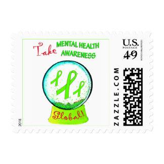 """""""Take Mental Health Awareness Global"""" postage"""