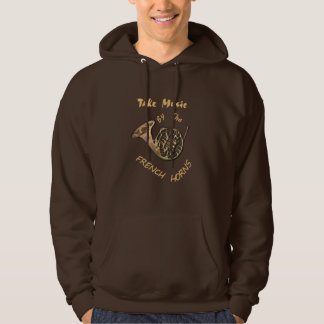 Take Music By the French Horns Graphic Hoodie