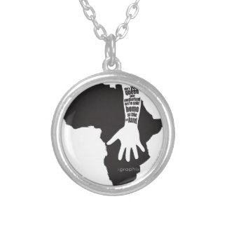 Take my hand.ai round pendant necklace
