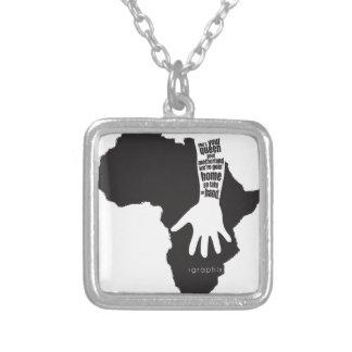 Take my hand.ai square pendant necklace