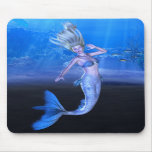 Take My Hand and Follow Your Heart Mermaid Art Mousepads