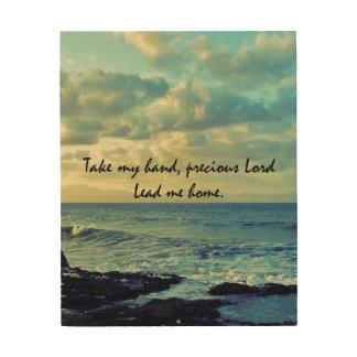 Take my Hand, Precious Lord Hymn Wood Wall Decor