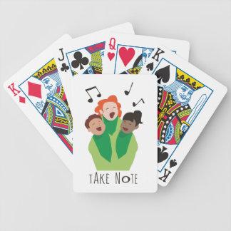 Take Note Bicycle Playing Cards