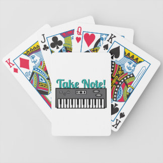 Take Note Bicycle Poker Deck