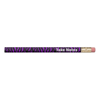 Take Notes. Purple Zebra Animal Print Pencil
