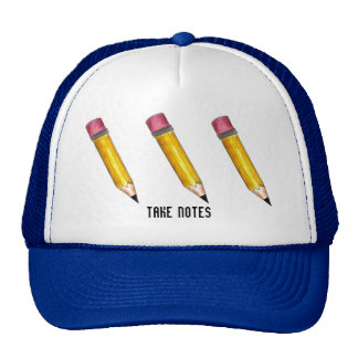 Take Notes Sharp Yellow #2 Pencil Pencils Hat