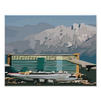 Take Off and Landing West Coast Style Engraved Poster