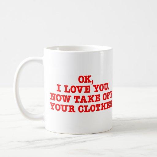 Take Off Clothes Classic White Coffee Mug