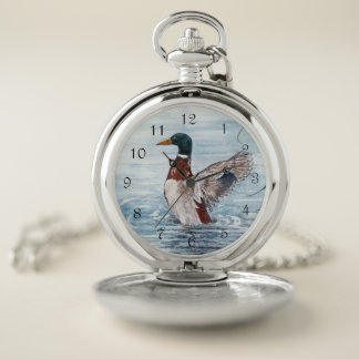Take Off Duck Pocket Watch