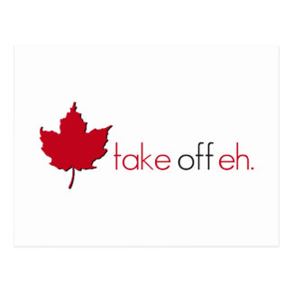 Take Off Eh Postcard