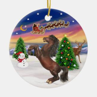 Take Off - Horse (brown) Ceramic Ornament