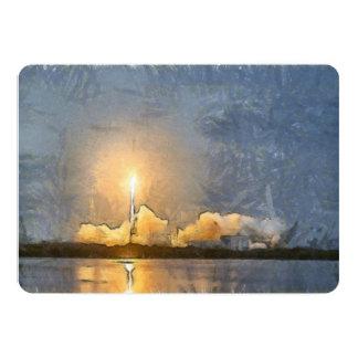 Take Off of flaming rocket Card
