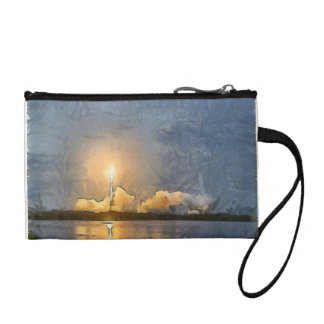 Take Off of flaming rocket Coin Purse