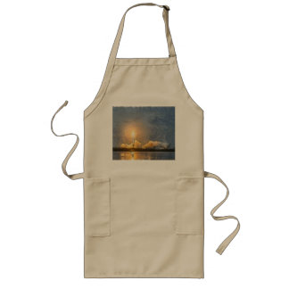 Take Off of flaming rocket Long Apron
