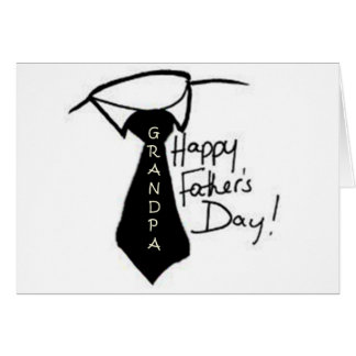 TAKE OFF YOUR TIE GRANDPA FATHER'S DAY GREETING CARD