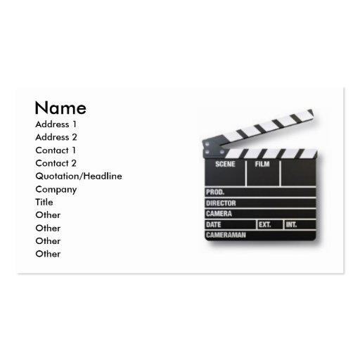 Take One Actor Business Card