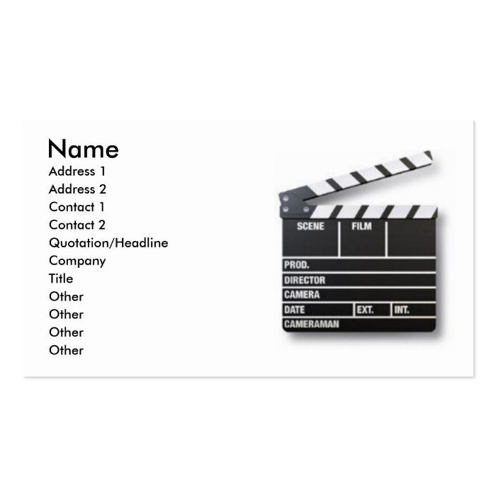 Take e Actor Business Card