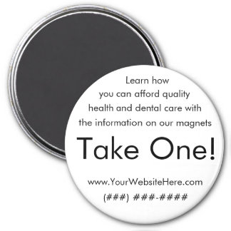 Take One! health and dental magnet