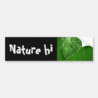 take out leaf bumper sticker