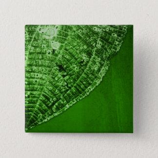 take out leaf pinback button