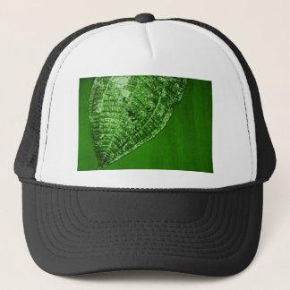 take out leaf trucker hat