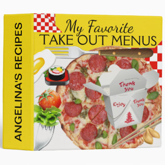 Take Out or Delivery Menus Binder