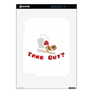 Take Out iPad 2 Decals