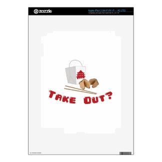 Take Out iPad 3 Decal
