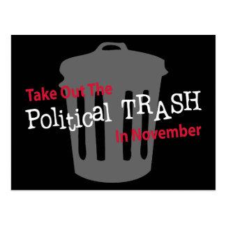 Take Out The Political Trash In Novemer Postcard