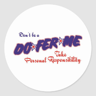 take personal responsibility round sticker